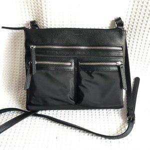 TAHARI zippered pockets adjustable crossbody bag